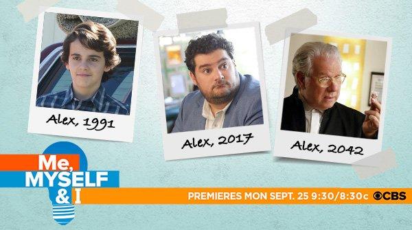1 man, 3 different ages. Meet Alex Riley when #MeMyselfAndI premieres...