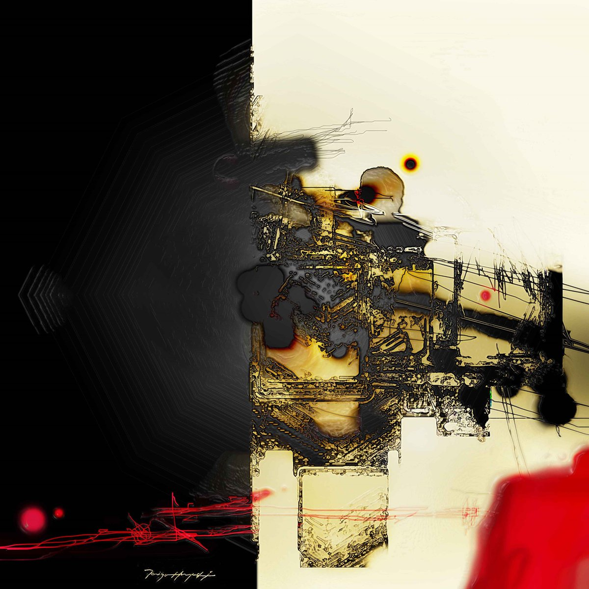 &quot; Opaue Black #001 &quot;  Art works by Taizo Hayashi ; japan #abstractpainting #art #contemporaryart  #black #red #絵描きさんと繋がりたい #抽象画<br>http://pic.twitter.com/Cuk3tGtXC4
