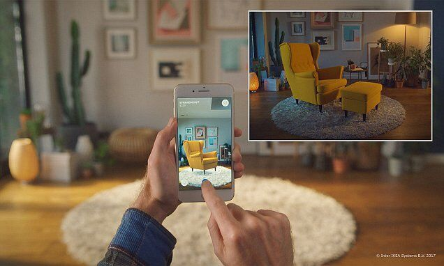 Ikea&#39;s #AR app lets users virtually test if furniture fits in a room  http://www. dailymail.co.uk/sciencetech/ar ticle-4906824/Ikea-s-AR-smartphone-app-users-virtually-test-furniture.html &nbsp; …  #AugmentedReality <br>http://pic.twitter.com/WwFFx75hy6
