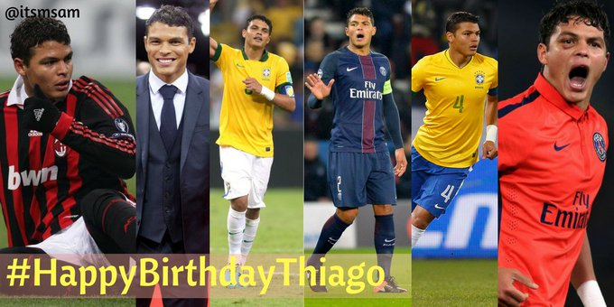 Happy Birthday Thiago Emiliano da Silva, commonly known as Thiago Silva.