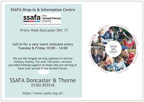 Open today! SSAFA #Doncaster Drop-in. Pop in for a very warm welcome #ssafa #veterans #southyorkshire #OneForcesFamily #doncasterisgreat<br>http://pic.twitter.com/Fid50QU6Xy