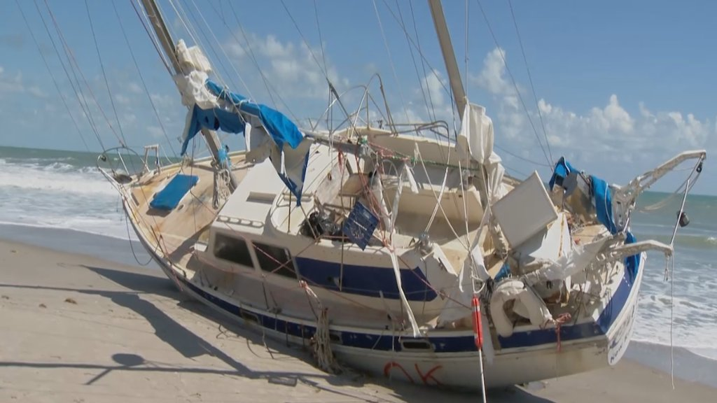 Key West-based boat washes ashore in Melbourne Beach days after Irma https://t.co/Wye2SmN0s0