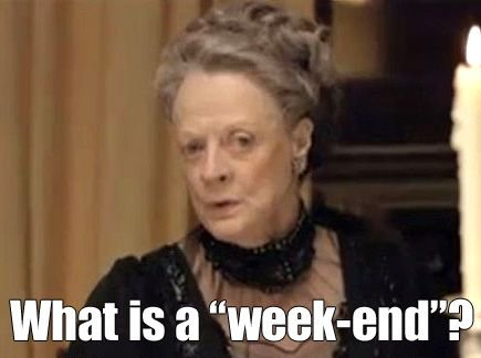 #FridayHumour What is this thing called a week-end? #PhDchat #ECRchat <br>http://pic.twitter.com/RXRWHlYISg