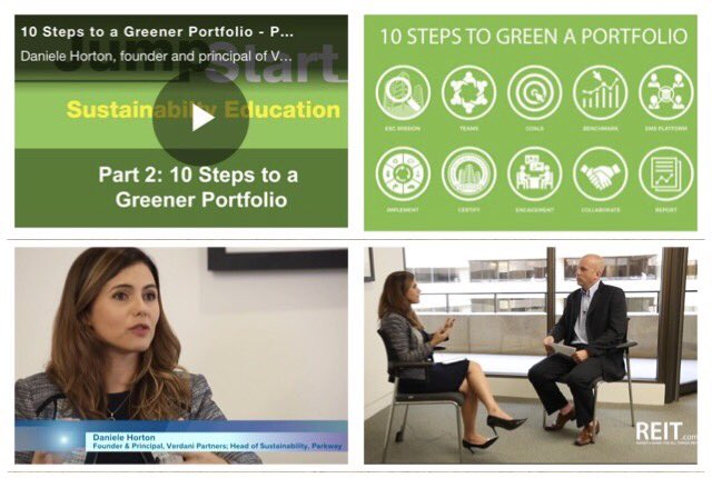 I was honored to participate on @REITs_NAREIT New #ESG Jump Start Videos! Click to watch our key best practices!  https:// lnkd.in/g2Kvrtx  &nbsp;  <br>http://pic.twitter.com/OrynJ1pb4x