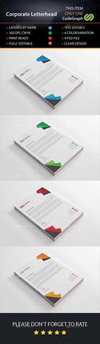 Corporate Letterhead  https://www. codegrape.com/item/corporate -letterhead/16397 &nbsp; …  #Print #Stationery<br>http://pic.twitter.com/RP8IbLQpn8