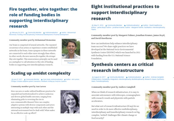 How 2 mainstream #interdisciplinarity, #transdisciplinarity, team science, research impact &amp; more? See blog posts at  https:// i2insights.org/category/insti tutionalisation/ &nbsp; … <br>http://pic.twitter.com/Rj2WcNgpka