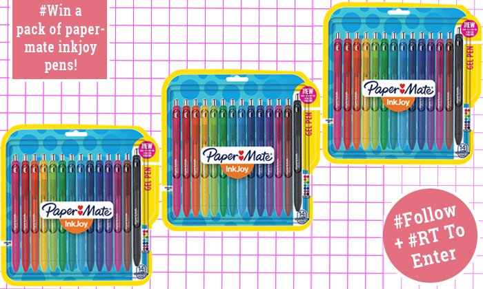 #Win a pack of Papermate InkJoy Pens! 5 to #Giveaway #Follow &amp; #RT to enter #FreebieFriday #Fridayfeeling - Winner announced on Monday!<br>http://pic.twitter.com/KsLUuvhttU