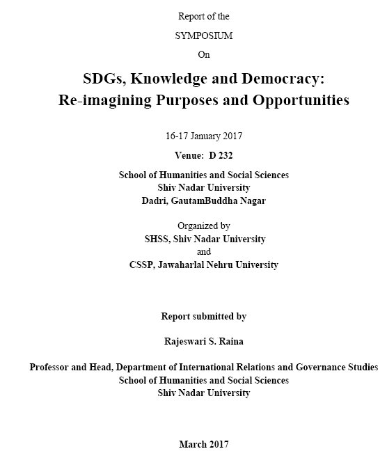 Report of the Symposium on #SDGs, #Knowledge &amp; #Democracy: Reimagining Purposes&amp; Opportunities  http:// bit.ly/2wKVwS7  &nbsp;   #RRI #OA #GlobalGoals<br>http://pic.twitter.com/nDB4viCBRR
