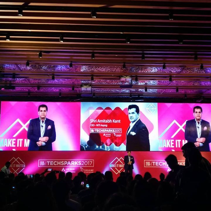 The man himself Amitabh Kant!  At @yourstory_co Tech Sparks #tsparks #startupindia #startup #nitiaayog #yourstory #techsparks #entrepreneur…<br>http://pic.twitter.com/vrxLXmz6lM