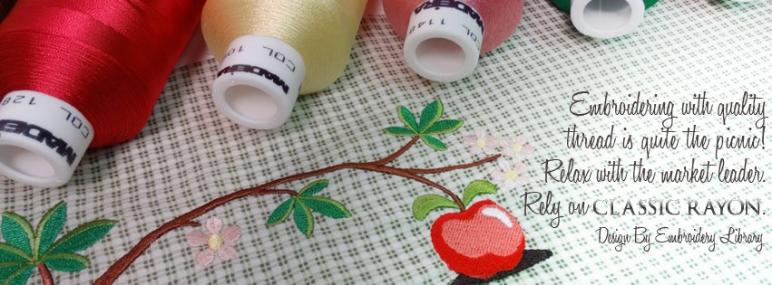 TGIF - Embroidering with quality thread is quite the picnic! Rely on Classic Rayon #classic #thread #madeira #stitch #embroidery #designs <br>http://pic.twitter.com/6ZMKzkHZqD
