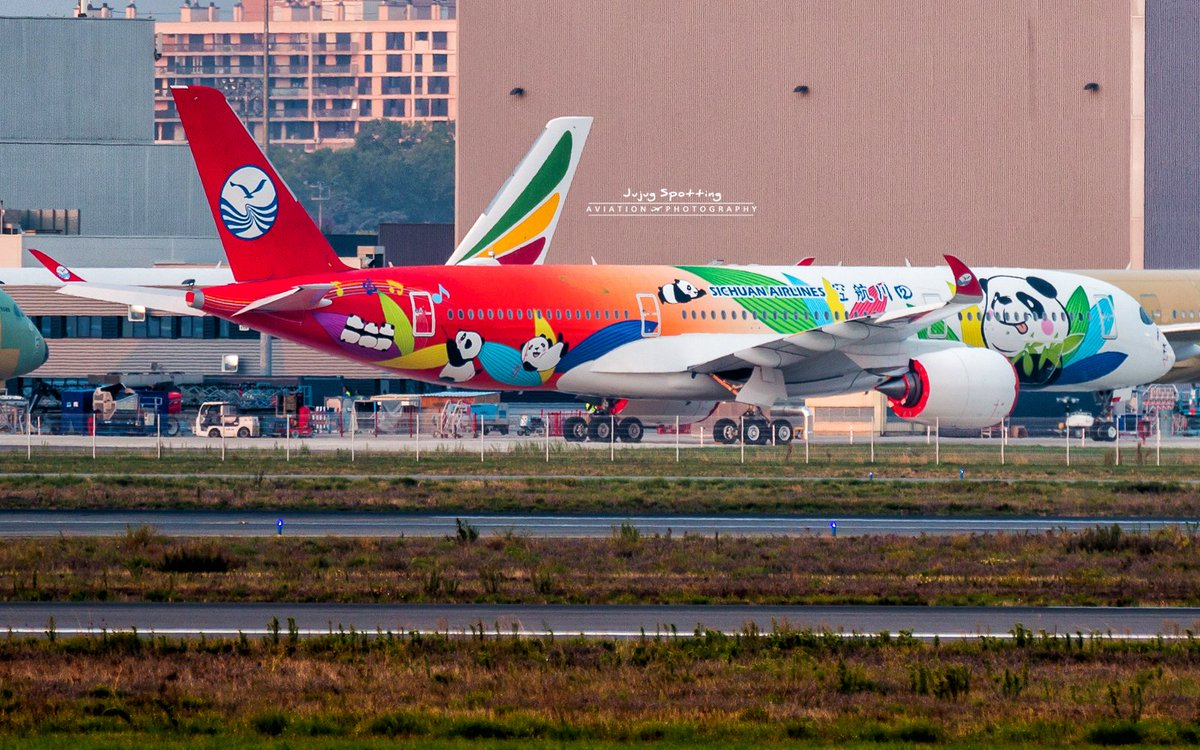 1st #Airbus #A350 Sichuan Airlines s/n 060 with the full livery !  #Avgeek #Toulouse #Travel #China<br>http://pic.twitter.com/uIkZdai6nZ