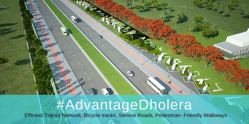 #AdvantageDholera - Efficient Transit Network, Multipurpose Corridors,Bicycle tracks, Service Roads, Pedestrian Friendly Walkways #SmartCity <br>http://pic.twitter.com/UFlgabUkkN