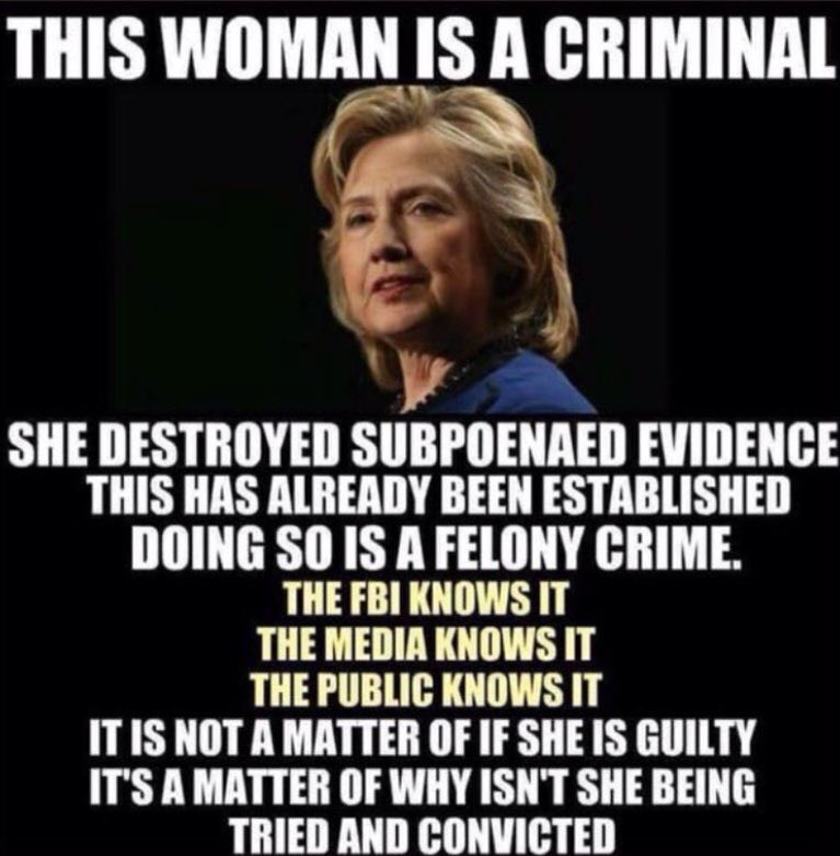 Everyone knows it! #justice #hillaryforprison<br>http://pic.twitter.com/r0tLOevoWg