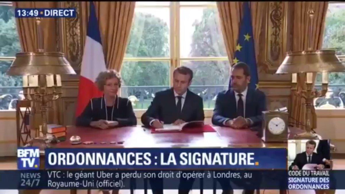 Emmanuel Macron a signé les ordonnances pour réformer le code du travail