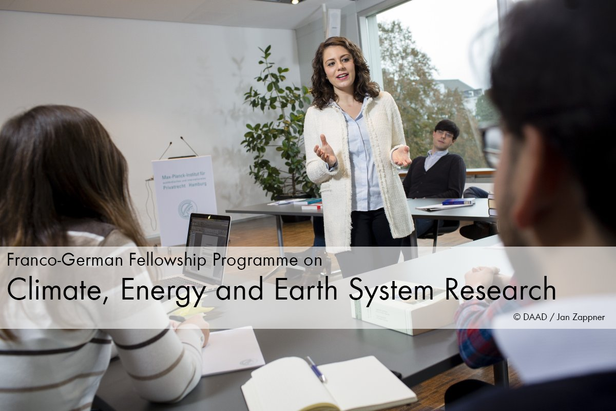 Franco-German #Fellowship Programme on Climate, Energy and Earth System Research  http:// bit.ly/2x0LrVu  &nbsp;   @DAAD_Germany #Funding<br>http://pic.twitter.com/izBFTtSdNH