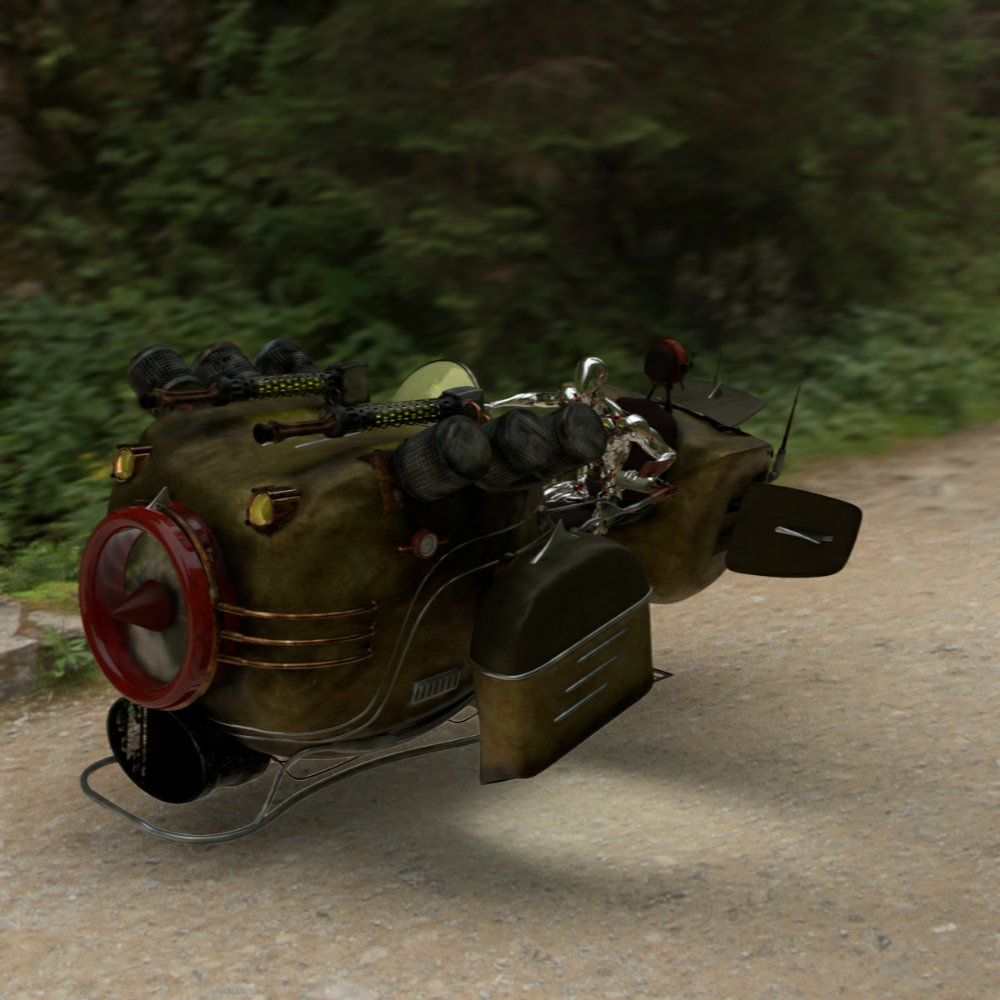 My Hover Bike 3D model for #Maya is now available...  ....get your #steampunk paws on it here...  https://t.co/BDf1WcrLhR