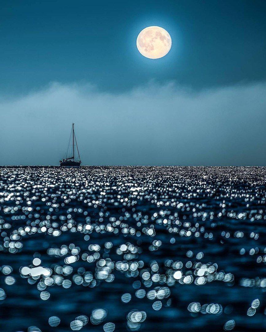 #Moonlight over the #ocean #seascape #sea  #boat @AndreiAndrei63<br>http://pic.twitter.com/UC089F9jsT