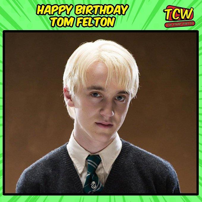 Happy Birthday Tom Felton. We will always remember you as Draco Malfoy!