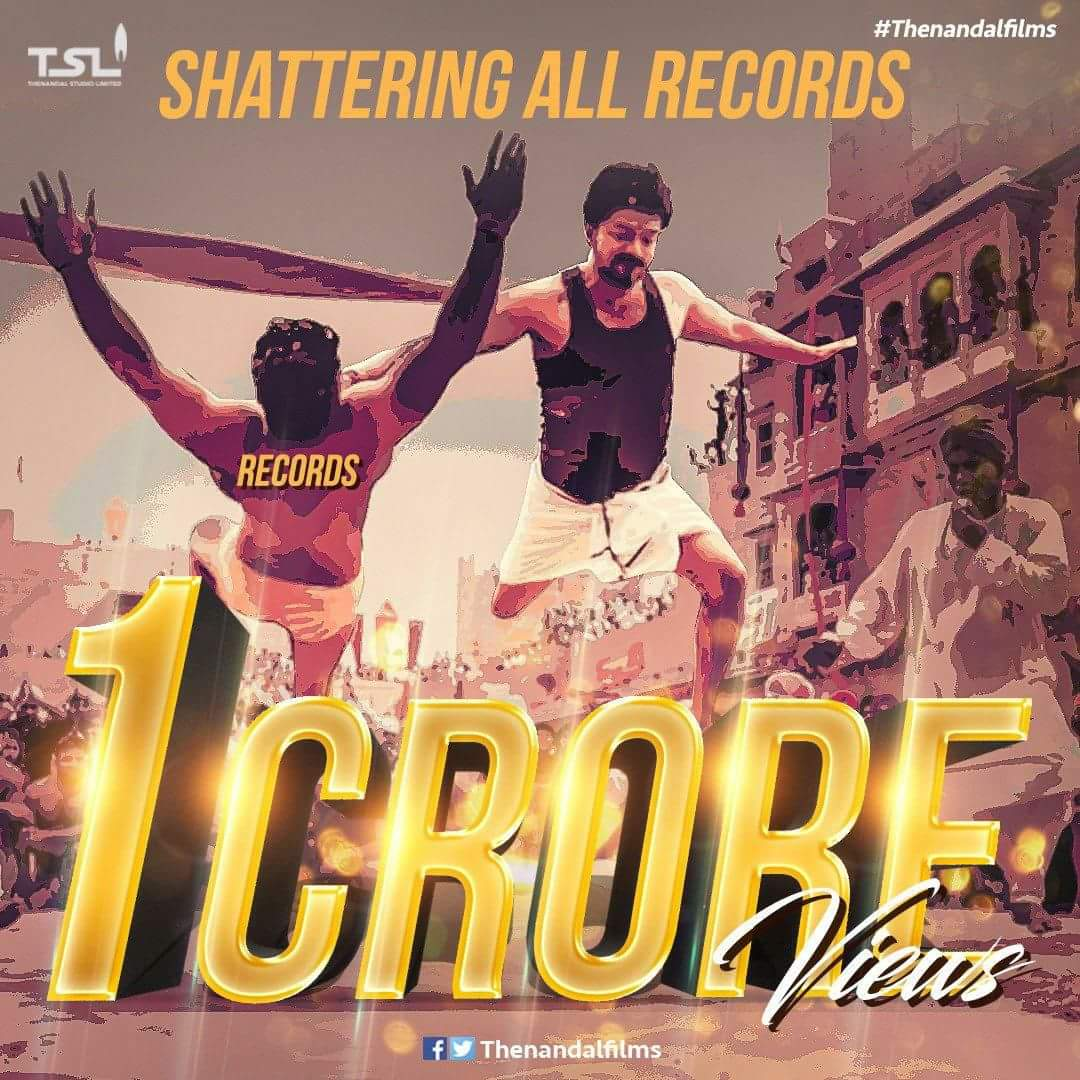 #MersalTeaser  hits 10M views in less than 24hrs! Ruling social media like a boss.The Name is #ThalapathyVijay!!  <br>http://pic.twitter.com/JCmR71fiui