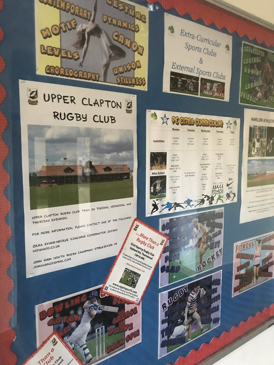 Thanks for hosting the schools event last night. @EppingUCRFC We are advertising the club on our extracurricular board #ESJPE #Rugby #EUCRFC<br>http://pic.twitter.com/hsukQjVpCU