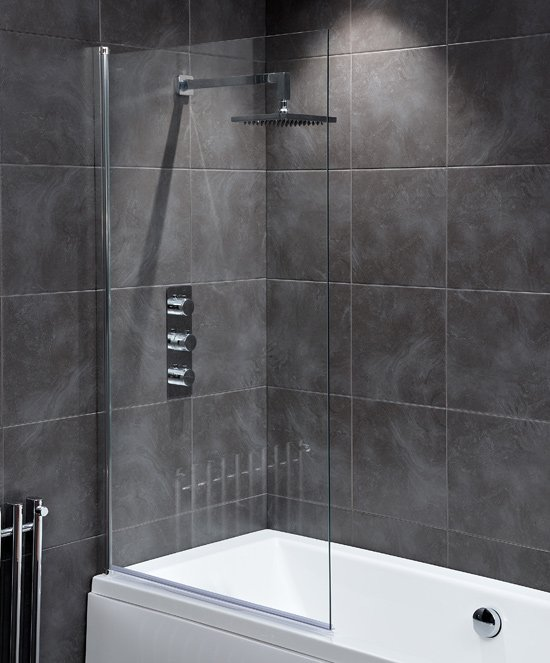 Waterlux Designer Square Silver Clear Bath Shower Screen. Only £65 at Firstbathrooms  https://www. firstbathrooms.co.uk/bath_screens-c -2467.html &nbsp; …  #bathroom <br>http://pic.twitter.com/ScKDlt7bOw