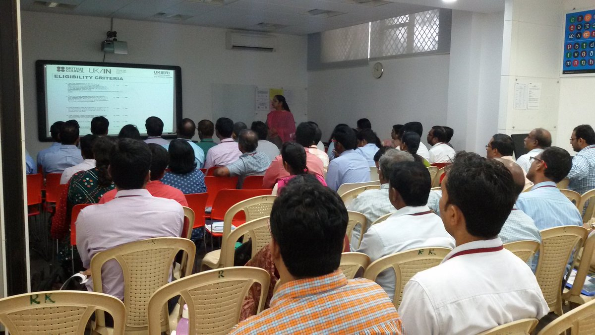 #IndiaUK #UKIERI pre-bid workshop #Chennai. Call 4 #research #incubation #partnership proposals - #grants  upto £50,000. Deadline: 20 Oct <br>http://pic.twitter.com/7SmnUlxkWf
