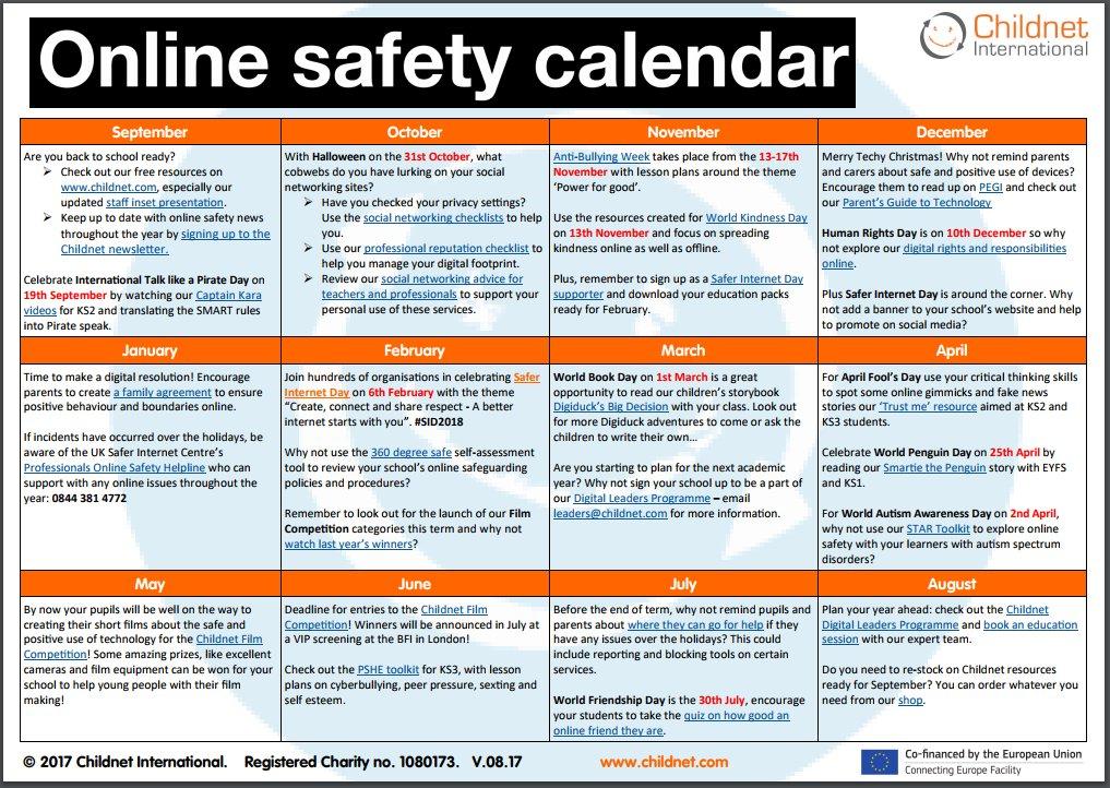 See new Schools #onlinesafety calendar u...