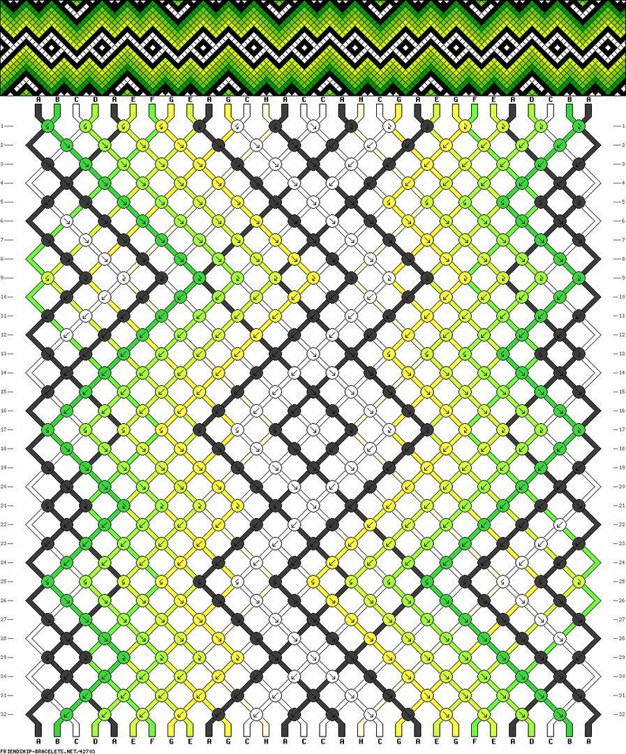 Фенечки из мулине схема
