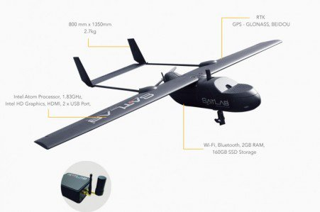 Satlab SLA-1 is a photogrammetry UAS delivering high accuracy point cloud and orthophoto  http:// ow.ly/pZna30fea7u  &nbsp;   #mapping #surveying<br>http://pic.twitter.com/1L9gbdHjcl