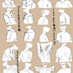 ところでここの所チビチビ描いてたんだけど、Tシャツ、パーカーの基本の形状イチイチ写真とか見るの面倒な…