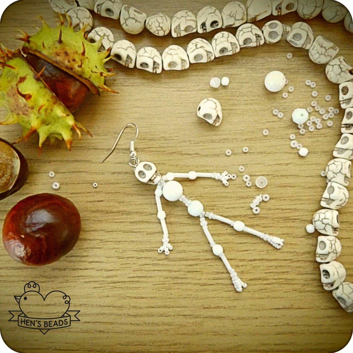 Halloween is coming  #handmade #beadwork #earrings #halloween #skeleton<br>http://pic.twitter.com/wJjrHa8Xqm