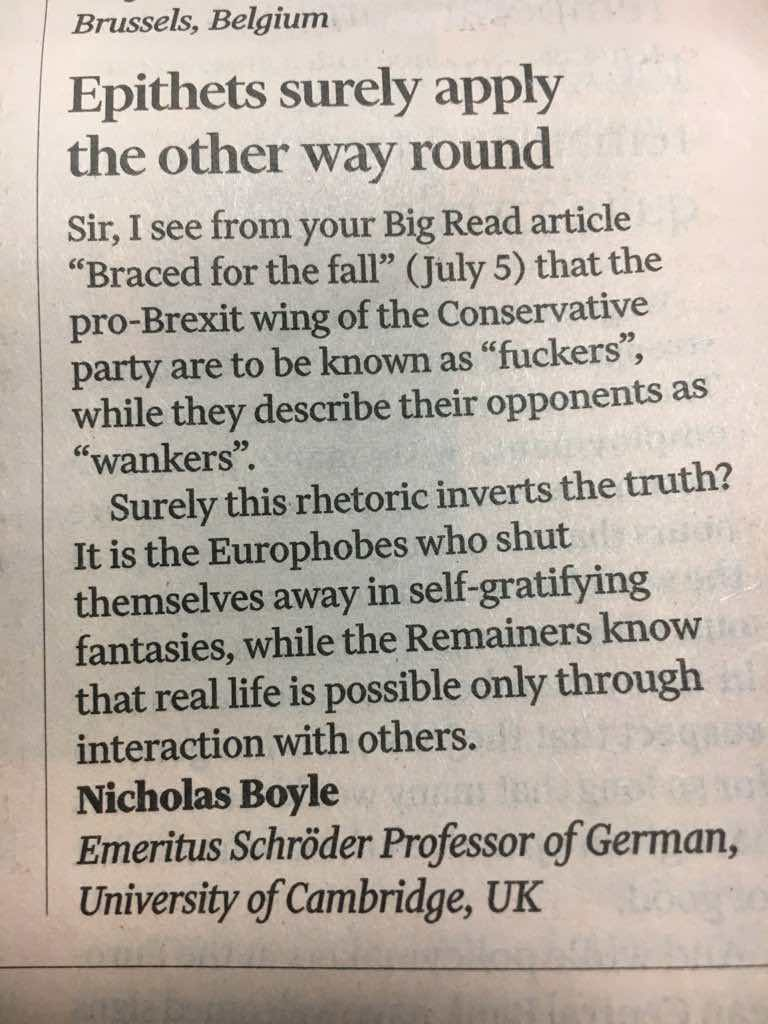 Never forget my old professor on #Tories and #Brexit.   Wish it were him speaking in Florence tonight: better gags, more sense.<br>http://pic.twitter.com/NB6ER7TTAj