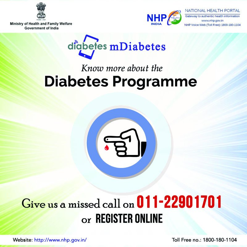 Register for mDiabetes programme to control #Diabetes. For more details, visit:  http:// bit.ly/nhp_mdiabetes  &nbsp;   #SwasthaBharat<br>http://pic.twitter.com/LReGUQDfY9