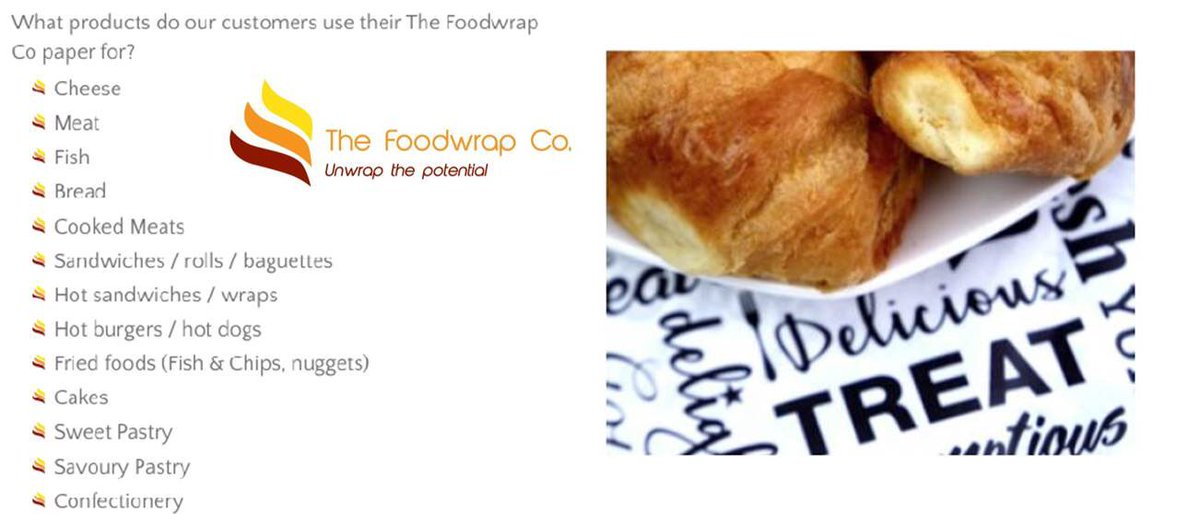 Foodwrap, used to wrap so many things! #printedgreaseproof #foodwrap #environmental  http://www. thefoodwrapco.co.uk  &nbsp;  <br>http://pic.twitter.com/JCfcVpaInc