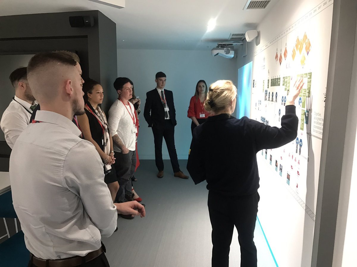 Apprentices on tour of @Siemens&#39; innovation story, product wall and &#39;strategizer&#39;. #VirtualReality room coming up. #ApprenticeSummit17<br>http://pic.twitter.com/iXHpIx2c2P