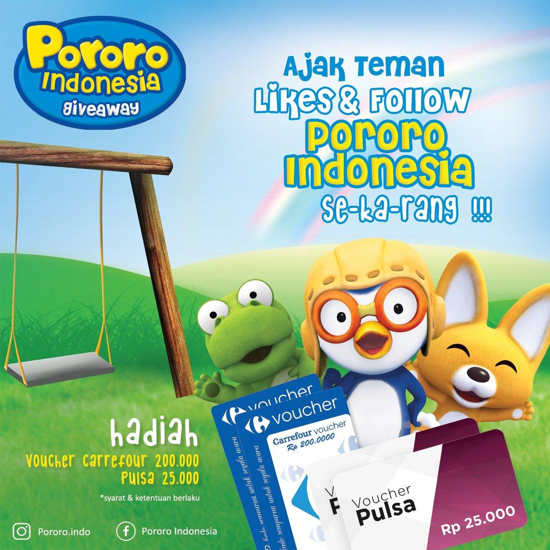 Mau dapet voucher belanja atau pulsa? Yuk, ajak temen kamu buat likes fanpage Pororo Indonesia dan ikutin cara ini https://t.co/dMxwVJyRyZ https://t.co/bWJUMfbgr2