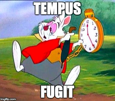Tempus fugit - time flies! #Latin <br>http://pic.twitter.com/16MasDy1Y5