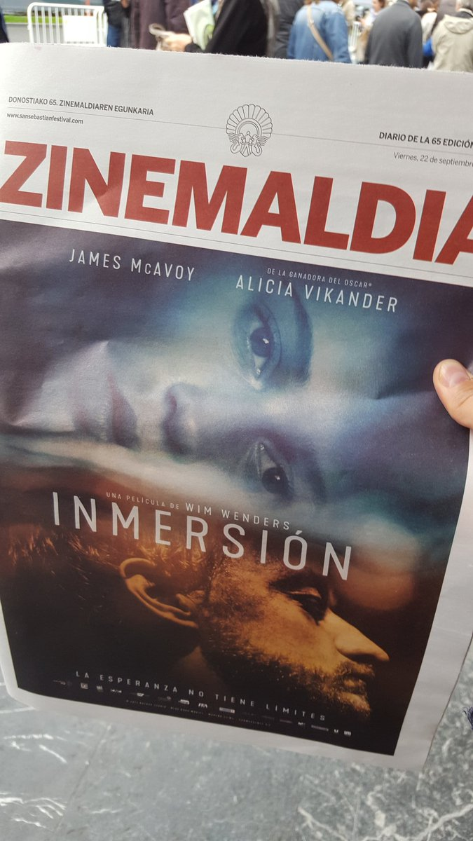 I got it!  The program on 22 Sept. 2017 opening of the #SSIFF65 with poster of #Submergence #JamesMcAvoy #AliciaVikander @sansebastianfes<br>http://pic.twitter.com/NcYAOPsgvO