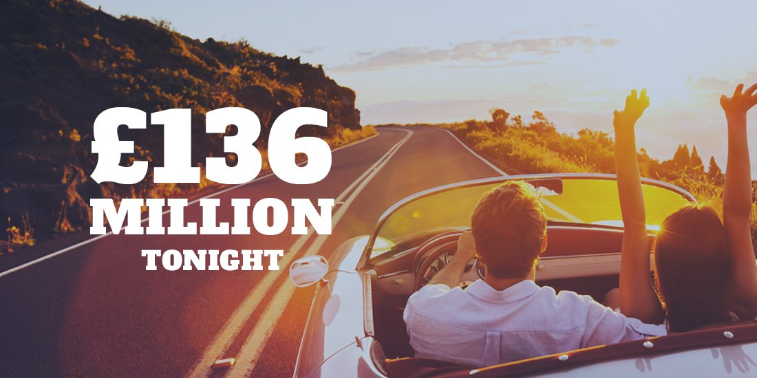There&#39;s an est. £136 MILLION #EuroMillions jackpot up for grabs tonight! Pick your lucky numbers:  https://www. euro-millions.com / &nbsp;  <br>http://pic.twitter.com/fv71VhaimR