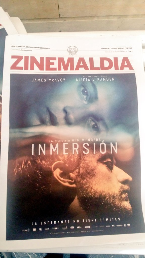 #Submergence poster is on today&#39;s #65SSIFF schedule mag ! #JamesMcAvoy #AliciaVikander<br>http://pic.twitter.com/9pzS301Y3J