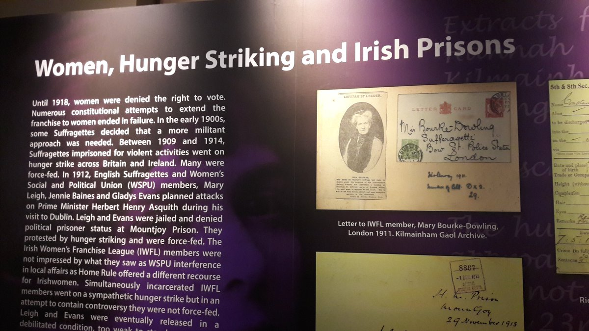 The @OPWKilmainham #hungerstrike exhibition is excellent for highlighting the various C20th strikes, inc. women&#39;s #loveirishresearch <br>http://pic.twitter.com/26mA6Iz4rS