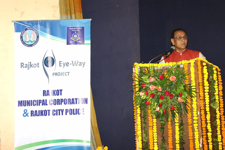 The Eye-Way CCTV surveillance project is an important step for #Rajkot to become not only safer but a #SmartCity : Guj CM @vijayrupanibjp<br>http://pic.twitter.com/7GAmsxbJIb