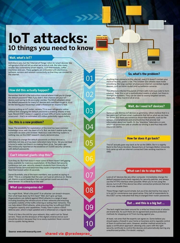What&#39;s #IoT #Attack?  #IoTSecurity #CyberSecurity #infosec #DDoS #DataScience #Hacking #IIoT #fintech #cyberattacks #hackers v/@pradeeprao_<br>http://pic.twitter.com/Wb3W8ZCMkn