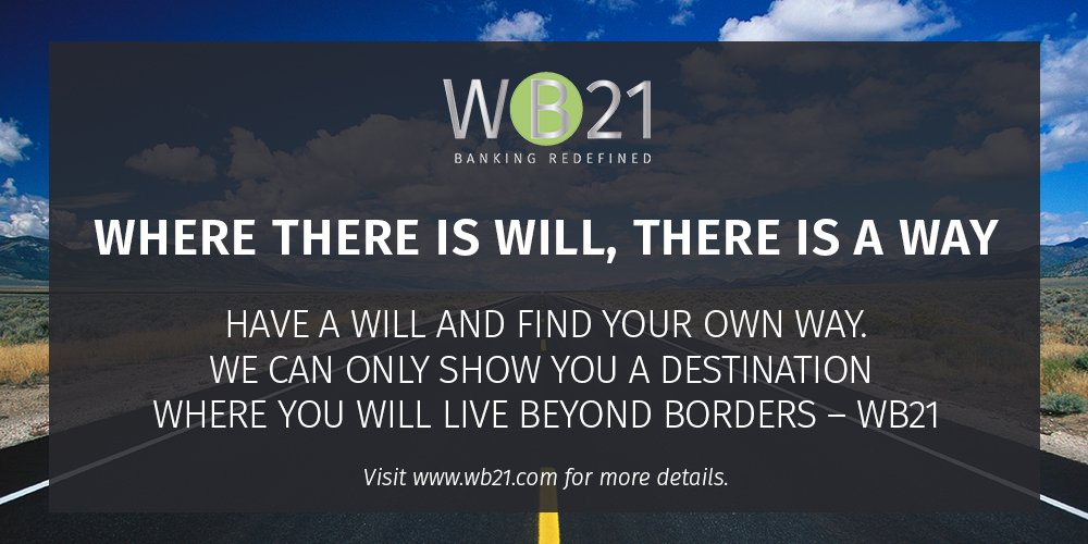 Only your will can take you to the way. #WB21 #WebBank #WebBanking #Bank #Banks #Banking #Finance #Accounts #Money #Fund #Funds #Transaction<br>http://pic.twitter.com/ExLtDjED0L