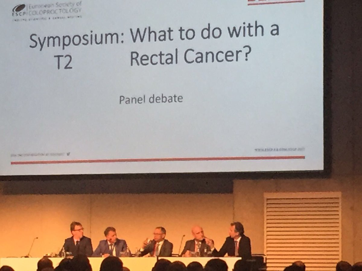 Learning what to do with a T2 rectal cancer #colorectalsurgery #escp2017<br>http://pic.twitter.com/b2vHQUrlkG