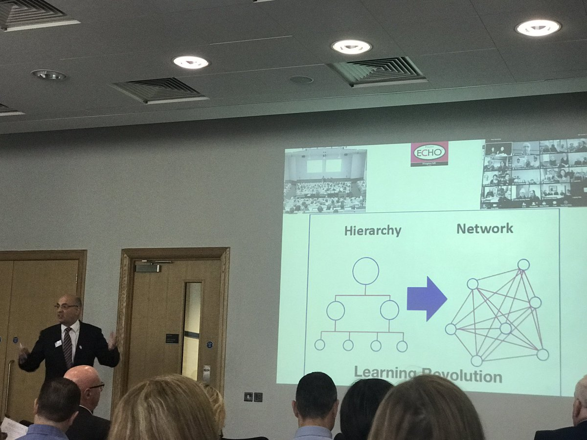 Max Watson encourages us to move from learning from the &#39;Sage on the Stage&#39; to the &#39;Guy on the side&#39; #Networks #ECHO #Transformation<br>http://pic.twitter.com/9OfeR4gSxE