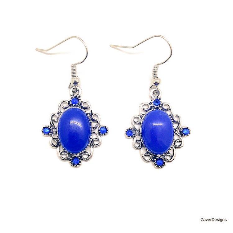 Blue agate with Swarovski crystal dangle earrings #etsyjewerly #fashion #HandmadeHour  https://www. etsy.com/zaverdesigns/l isting/238486680 &nbsp; … <br>http://pic.twitter.com/cKPq0kLrCh