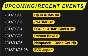 Tourney scene is looking good for #ARMS right now. Make sure to tune in to see the #FellowsInARMS compete!  #FGC #esports #nintendoswitch<br>http://pic.twitter.com/Ccyx7oFtVQ