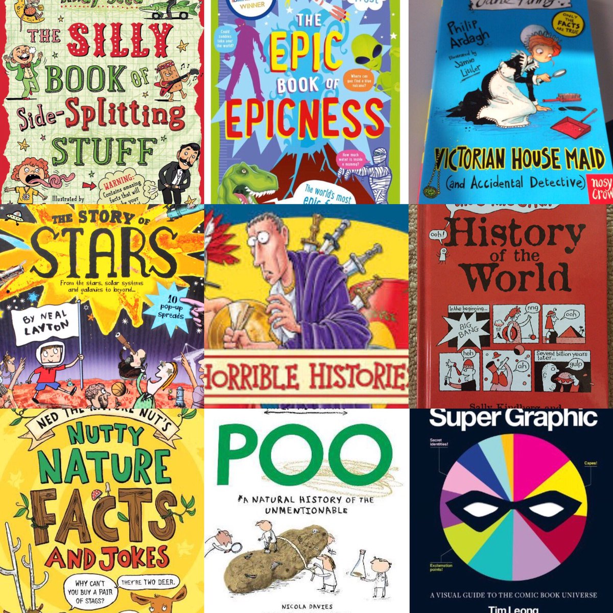 #FunnyBookFriday is shaping up nicely with a #NonFiction theme. Share your favourites. <br>http://pic.twitter.com/LH1svZd4e6