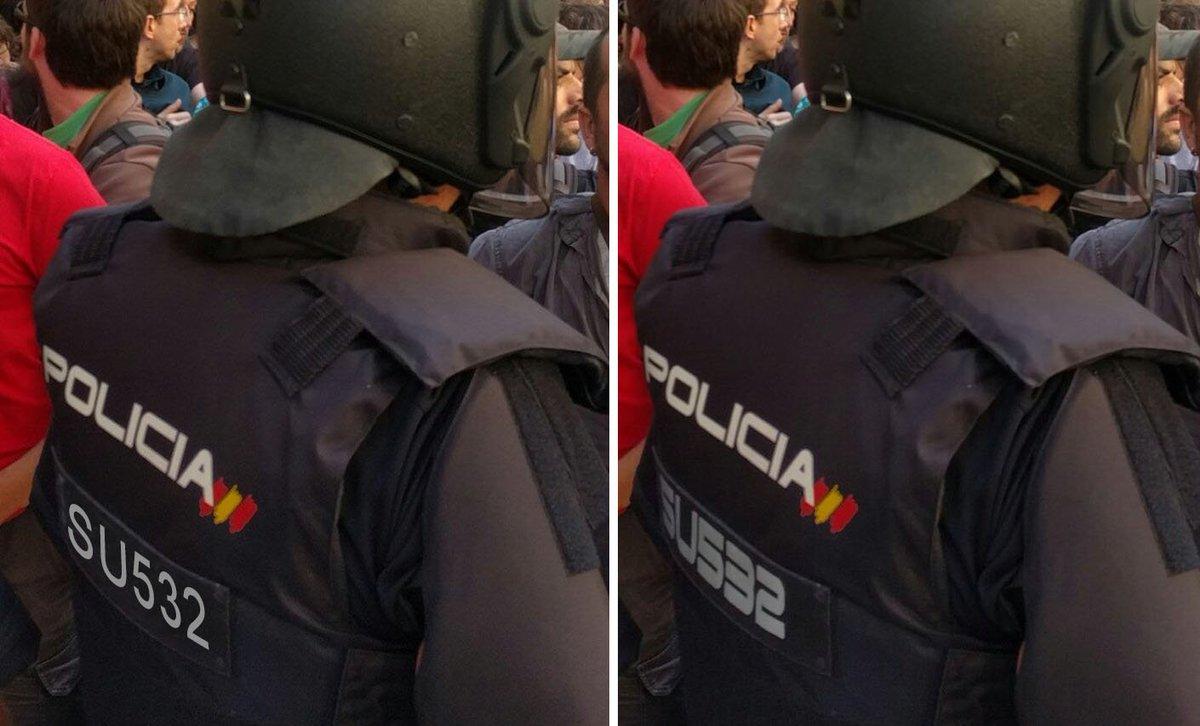 Ensayo gráfico sobre el tipo de letra escogido por la policía para sus números de identificación. Aquí con una ARIAL ¿Cuál se lee mejor? ⬇️